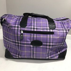 Plaid Overnite Gym Bag